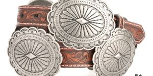 Ariat Brown Tooled Concho Belt